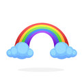 Rainbow with two clouds