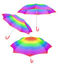 Rainbow umbrella vibrant hue colors Royalty Free Stock Photo