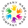 Rainbow unity hand logo Royalty Free Stock Photos