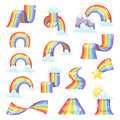 Rainbow vector set. Royalty Free Stock Photo