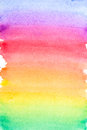 Rainbow vivid watercolor background art Stock Photography