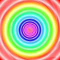 Rainbow warp a colored hole or infinite portals Stock Photos