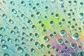 Rainbow water drop amazing shot Stock Photography