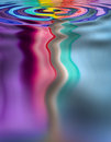 Rainbow Water Drop Splash Royalty Free Stock Photo