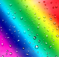 Rainbow water drops on glass Royalty Free Stock Images