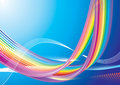 Rainbow Wave Royalty Free Stock Image