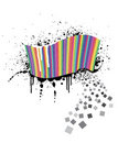 Rainbow wave full of colorful squares Stock Images