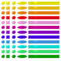Rainbow web buttons 2 Royalty Free Stock Photo