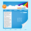 Rainbow website template Royalty Free Stock Image