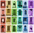 Rainbow windows Stock Photo