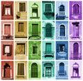 Rainbow windows Stock Photo