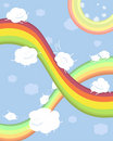 Rainbows and clouds Royalty Free Stock Photography