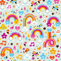 Rainbows pattern Royalty Free Stock Image