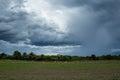 Rainclouds or nimbus in rainy season Royalty Free Stock Photo
