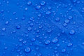 Raindrops On Blue Tent