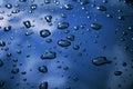 Raindrops On The Car Royalty Free Stock Photo