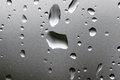 Raindrops on glass rain drops close up Royalty Free Stock Images