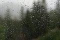 Raindrops on glass rain drops window Royalty Free Stock Photos