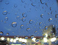 Raindrops on window Stock Image