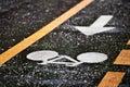Rainfall On A Bicycle Lane