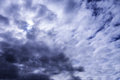 Rainfall with dramatic cloudy sky Royalty Free Stock Photography