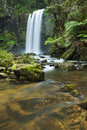Rainforest waterfalls, Hopetoun Falls in Australia Royalty Free Stock Photo