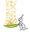Raining money Royalty Free Stock Photo