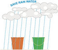Rainwater Harvesting Royalty Free Stock Photography