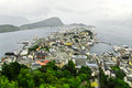 Rainy alesund Royalty Free Stock Image