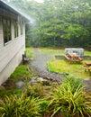 Rainy day at Holiday Park Royalty Free Stock Images