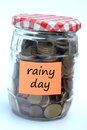 Rainy day savings Royalty Free Stock Photo