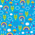 Rainy day seamless pattern