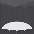 Rainy Day vector illustration.