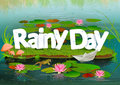 Rainy Day wallpaper background Royalty Free Stock Photo