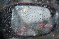 Rainy days, Rain drops on a car window Royalty Free Stock Photo