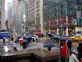 Rainy Fifth Avenue Royalty Free Stock Photos
