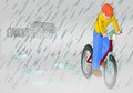 Rainy misty bike Royalty Free Stock Photo