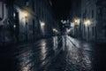 Rainy Night In Old City
