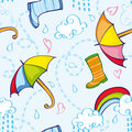 Rainy Pattern Royalty Free Stock Photos