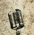 Raise your voice retro a microphone symbolizing protest and aggression Royalty Free Stock Photos
