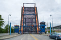 Raised drawbridge-Fremont Bridge Royalty Free Stock Photo