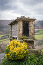 Raised granary old typical building in the northwest of spain asturias Royalty Free Stock Images