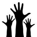 Raised hands Royalty Free Stock Photo
