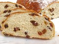 Raisin bread sliced sweet view close up Stock Photography