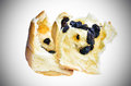Raisin bread on white light background Royalty Free Stock Images