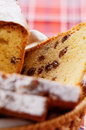 Raisin cake in the basket Stock Photography