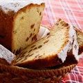 Raisin cake in the basket Royalty Free Stock Photo