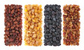 Raisin collection Stock Photography