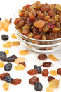 Raisin in glass Stock Photography