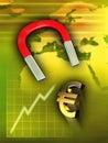 Raising euro Stock Photography